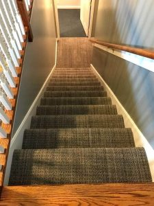 Patterned Carpet Staircase | Carpet Mart, INC