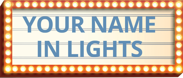 Your-name-in-lights